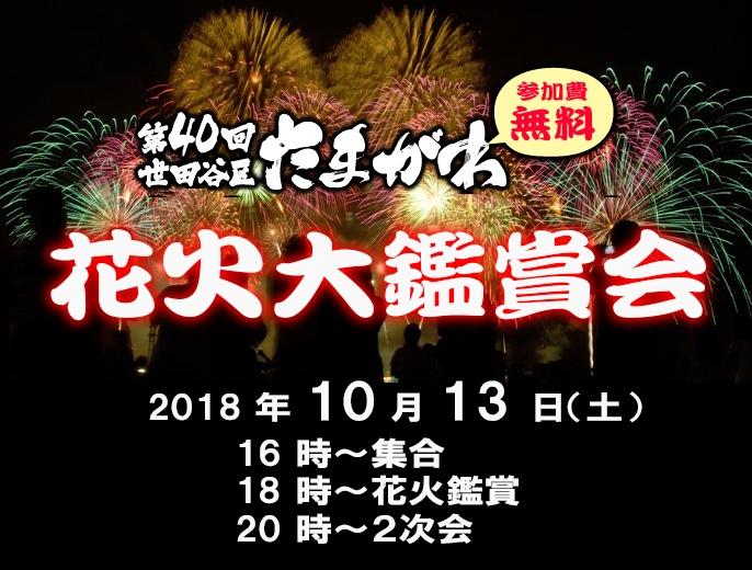 たまがわ花火大鑑賞会(2018.10.13)